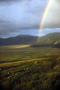 Double Rainbow, Valles Caldera, Bandelier National Monument (U.S. National Park Service, public domain).